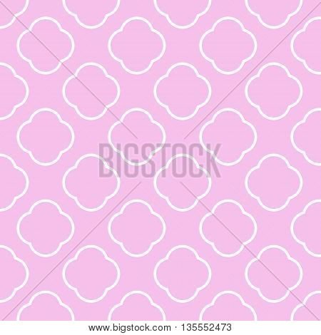 Seamless vector geometric Pattern pink background and texture