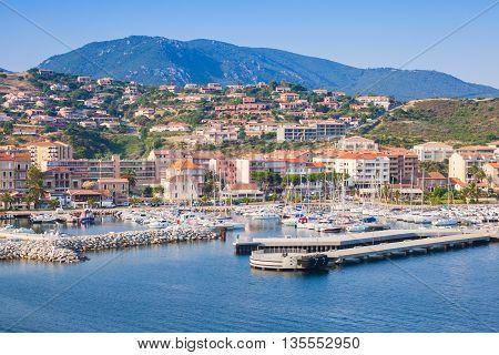 Propriano port Seaside South Corsica, island in France