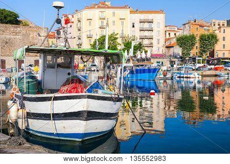 Ajaccio, Corsica Island, France. Fishing Boat