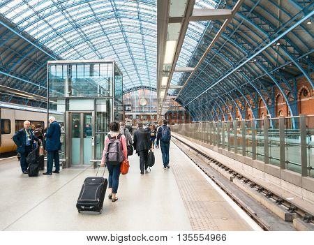 LONDON, UNITED KINGDOM - June 21, 2016. Street view of London underground in London, England, United Kingdom