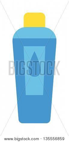 Shampoo bottle vector illustration.