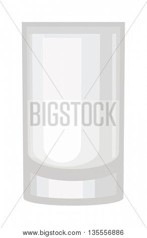 Empty drinking glass cup vector illustration.
