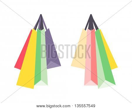 Shopping bag vector isolated