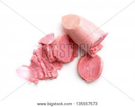 lipstick isolated on white
