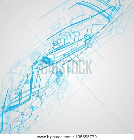 Futuristic technology illustration, circuit board background, art concept
