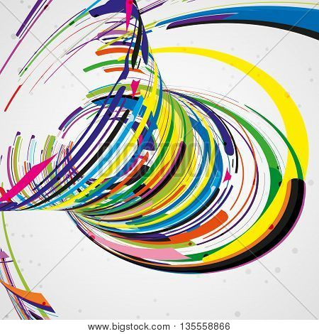 Futuristic abstract shape illustration, technology background, art concept