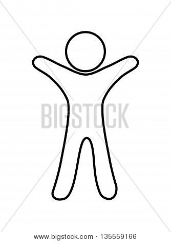 Person concept represented by abstract Pictogram icon over flat and isolated background