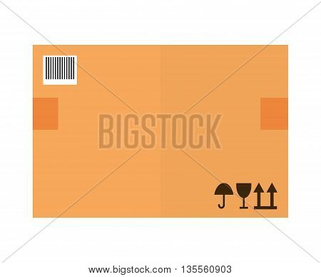 Delivery concept represented by package icon over flat and isolated background