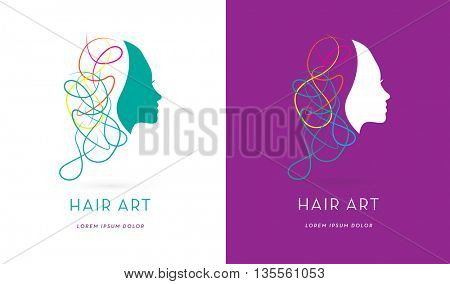 PREMIUM DESIGN , MODERN HAIR LOGO / ICON