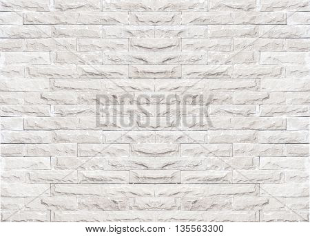 Black and white brick wall texture background/brick wall pattern gray color of modern style design decorative uneven