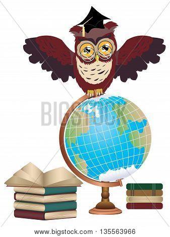 Owl With Globe