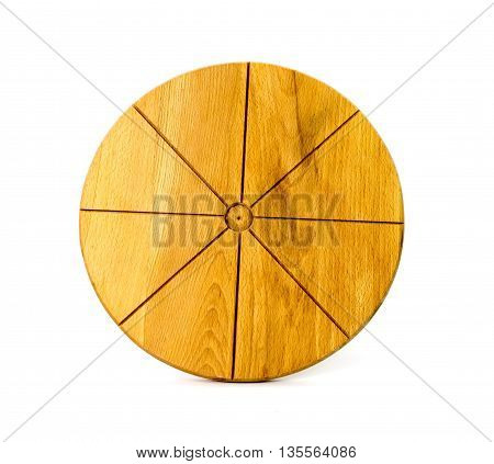 Pure oak cutting board isolated on white