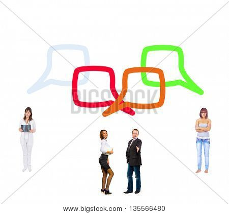 Speech Bubbles Standing and Talking