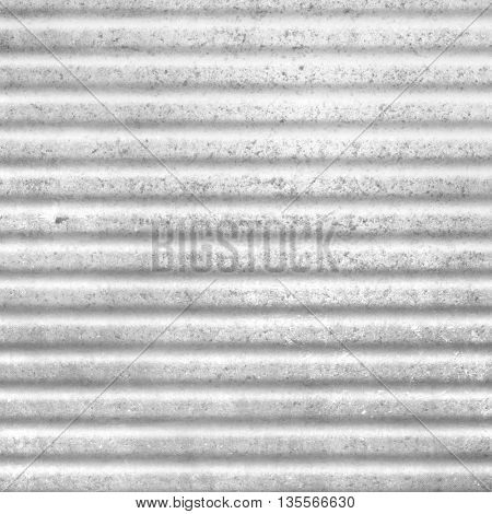 Gray abstract background with corrugated metal texture - zinc industry pattern