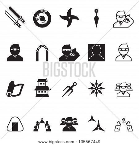 Ninja icons Set Vector illustration Graphic design