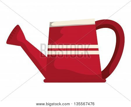 Gardening concept represented by watering can  icon over flat and isolated background