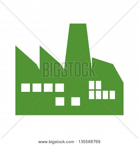 Industry concept represented by building icon over flat and isolated background