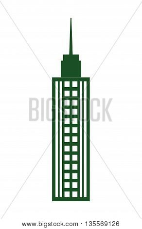 Urban concept represented by building tower  icon over flat and isolated background