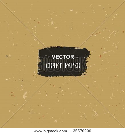 Vector cardboard texture. Craft paper for your design
