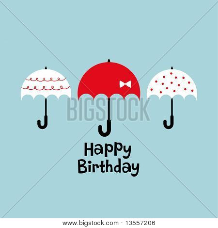 umbrella birthday card design