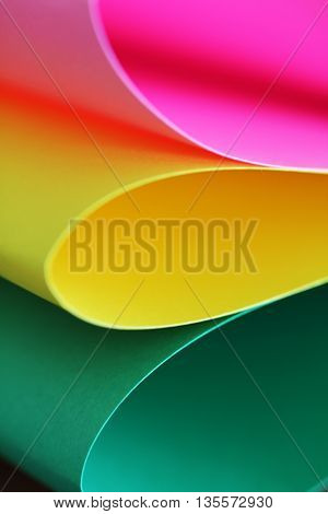 Abstract Paper Stack Defocused Colourful Background
