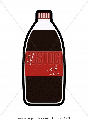 Drink concept represented by soda beverage  icon over flat and isolated background