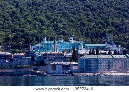 St Panteleimon Monastery In Mount Athos