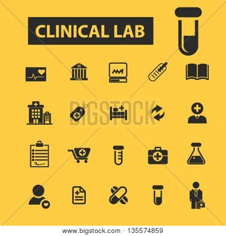 clinical lab icons