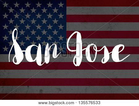 San Jose written with hand-written letters