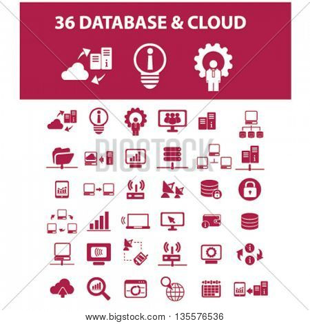 database & cloud icons