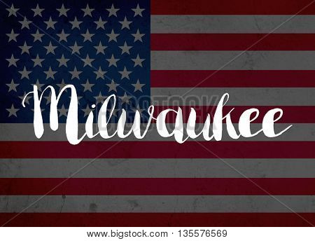Milwaukee written with hand-written letters