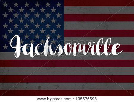 Jacksonville written with hand-written letters