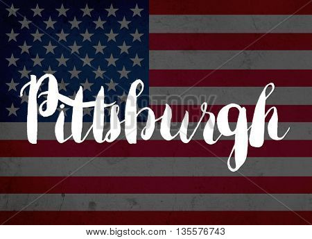 Pittsburgh written with hand-written letters