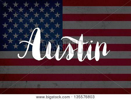 Austin written with hand-written letters