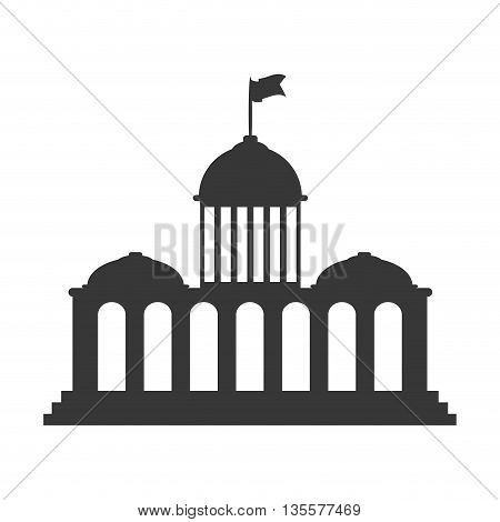 Architecture represented by building icon over isolated and flat background