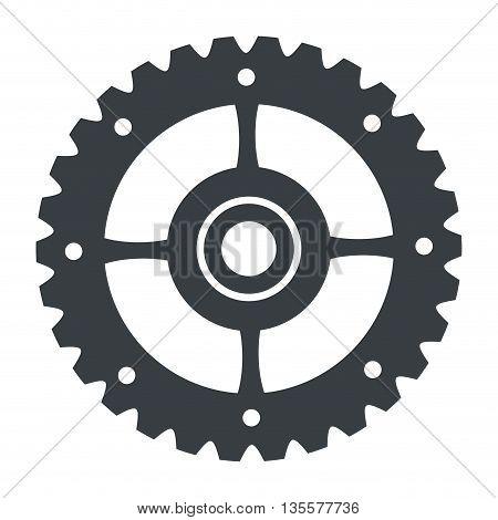 flat design of gear icon vector illustration