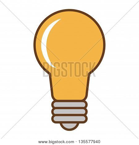flat design of lightbulb icon vector illustration