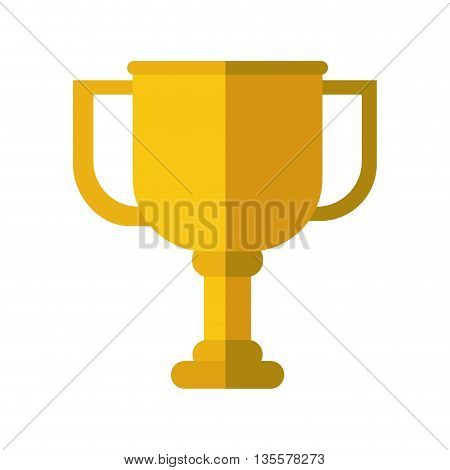 Winner represented by trophy icon over isolated and flat background