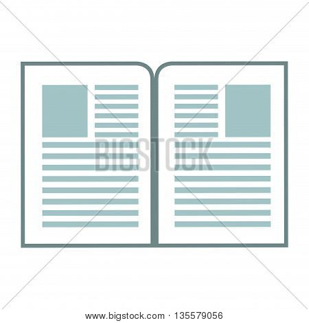 flat design two paper documents icon vector illustration