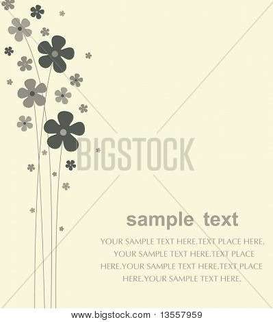 vector flower card design