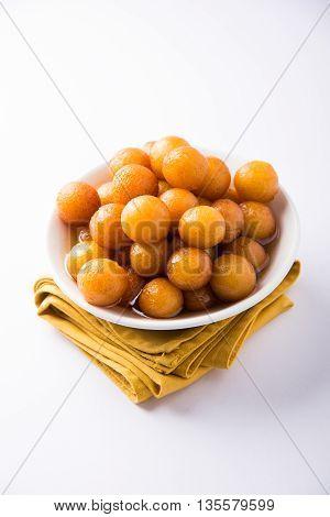 Gulab jamun, or gulaab jamun, is a milk-solids-based sweet mithai