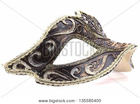 Venetian carnival mask isolated on white background cutout