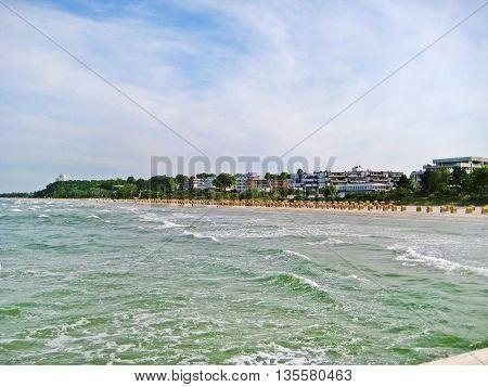 Beach In Scharbeutz, Baltic Sea, Germany