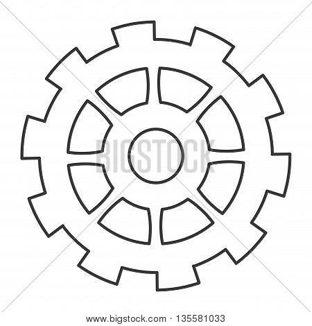 line design of gear icon vector illustration