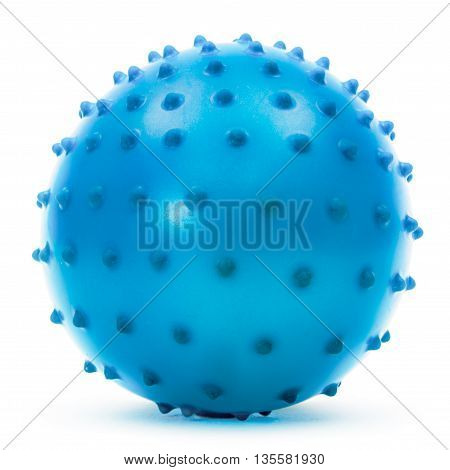 Children's blue ball isolated on white background