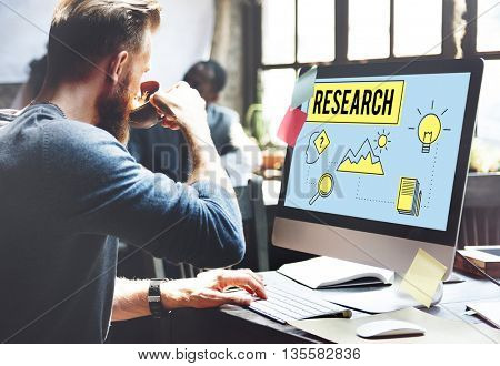 Research Searching Search Study Researcher Concept
