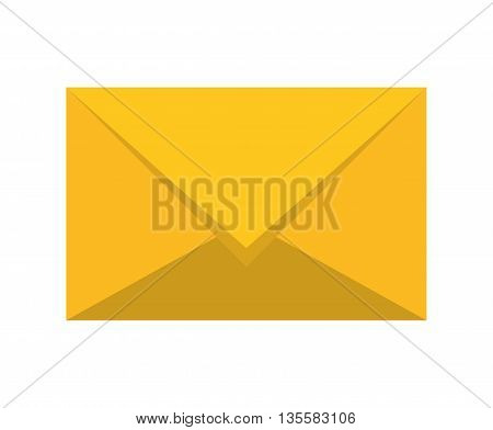 Email represented by envelope icon over isolated and flat background