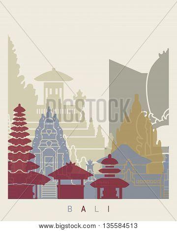 Bali Skyline Poster