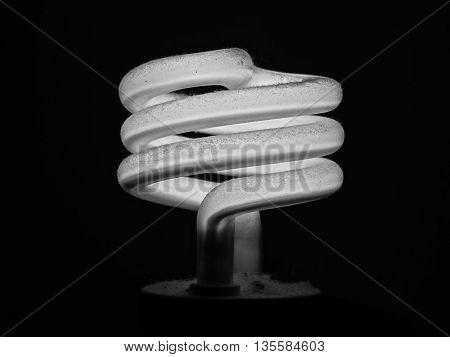 fluorescent light bulb shine spiral energy consumption lamp electricity