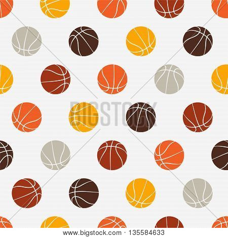 Seamless vector pattern - basketball. Sport abstract background.